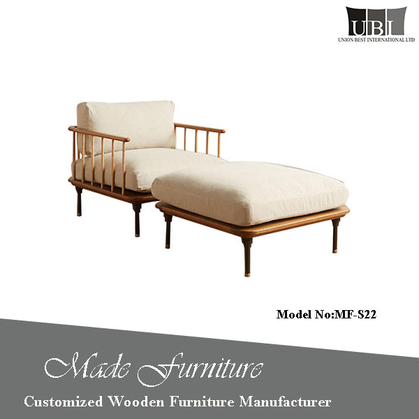 Wholesale price wooden sofa chair furniture from China