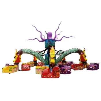 luna park rides manges vendre thrilling rotation rides big octopus rides with more than 1000 LED lights for sale