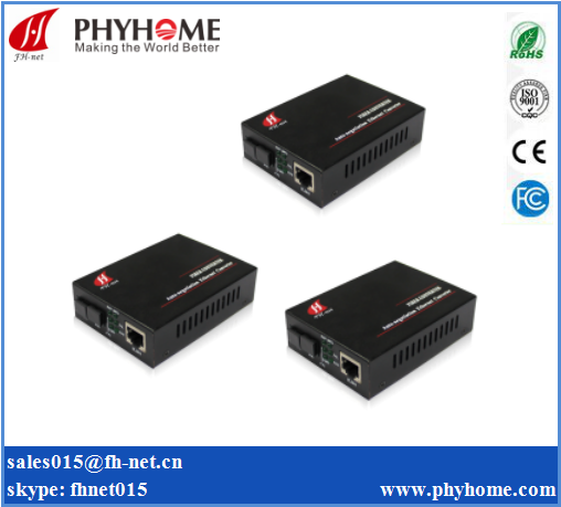 gigabit Singlemode single fiber media converter OEM POE managed