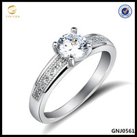 Latest Simple Design Italian 925 Silver Jewelry Pave Diamonds Silver Ring