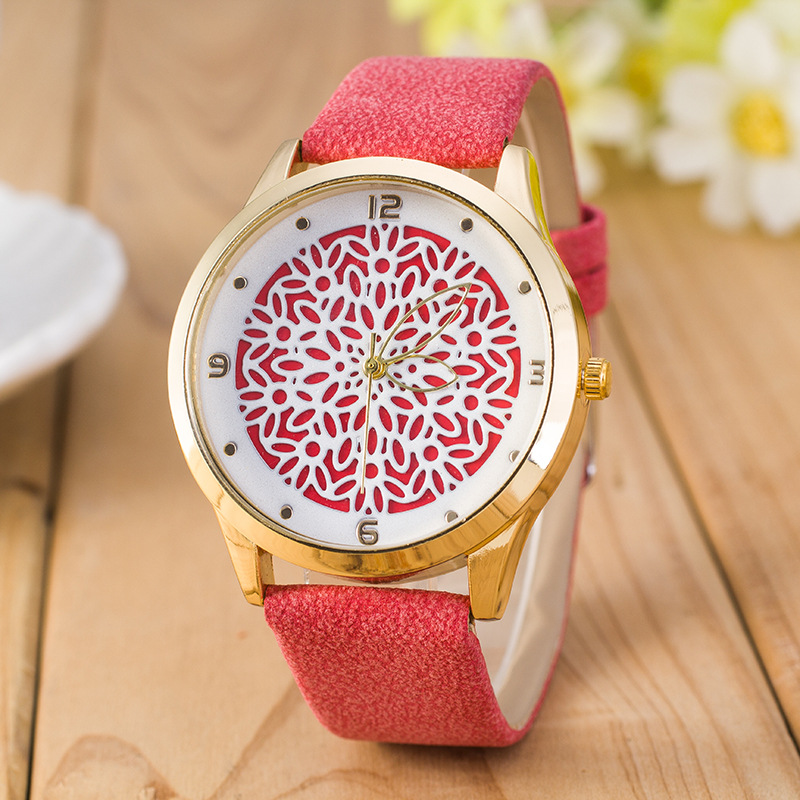 Novel Design Personality Dial Quartz Student Watch For Woman