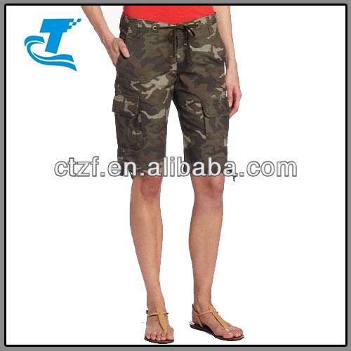 New Women Summer Camouflage Short Pants