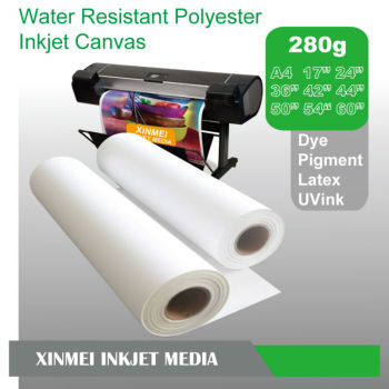 44 inch Matte 30m or Customized Inkjet Printing Canvas Roll
