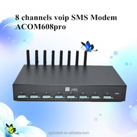 goip 8 bulk sms gsm modem sip gateway with 8 sim card voip mini devices with AT command