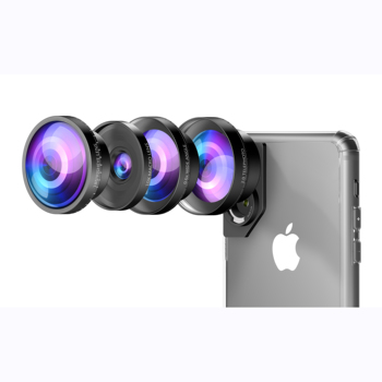 Pre-sale C mouth Phone cover 4 in 1 smartphone camera lens kit fisheye wide angle telephoto macro lens for iPhone Huawei