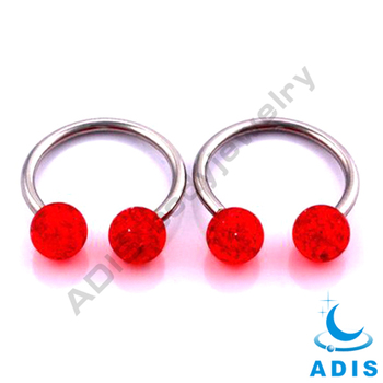 Dongguan Lip Ring Ear Acrylic Ball Circular Barbell Horseshoe Piercing Jewelry