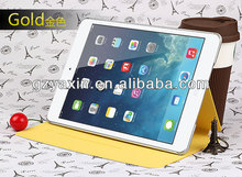 2014 New product leather case for ipad air cute case