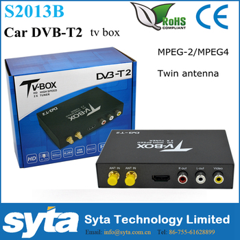 2015 new Dual Tuner 150KM/H high speed car dvb t2 digital tv receiver for Thailand, Colombia, Serbia, Russia ETC