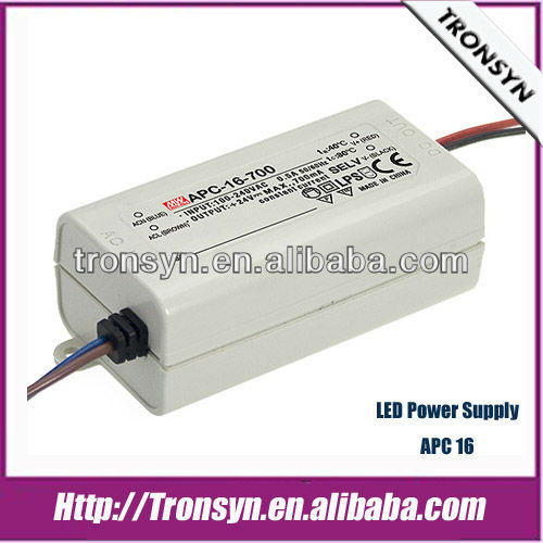 MeanWell Power Supply APC-25-700(25W/700mA) Constant Current LED Power Supply/LED Driver