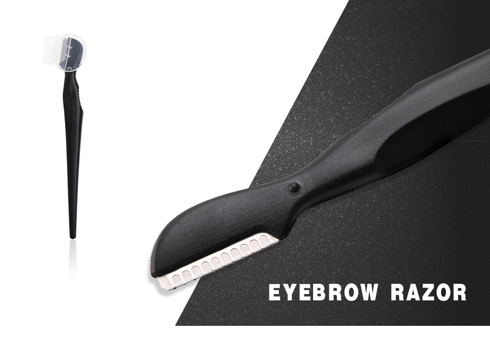 Good Quality Yangjiang Stainless Steel Safety Blade Bent Black Eyebrow Razor