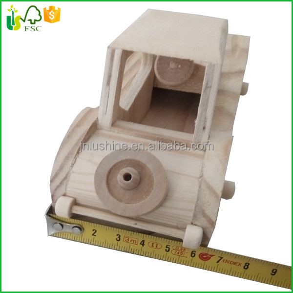 Wooden Car Mini Wood Toy Car Classic Model Gift Present Car