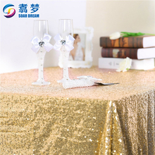 Square gold elegant party tablecloths weddings table cloth for fancy wedding table clothes