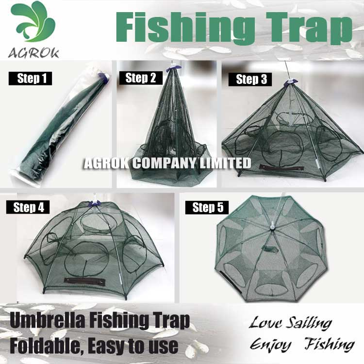 Ice Fishing Tool Umbrella Fishing Shrimp Trap UT861