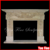 Antique Decorative Marble Carved Fireplace Mantel