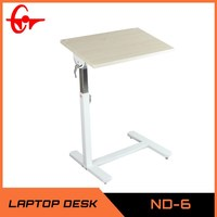 2014 Modern adjustable mulitifunction laptop stand wooden folding side table ND-6