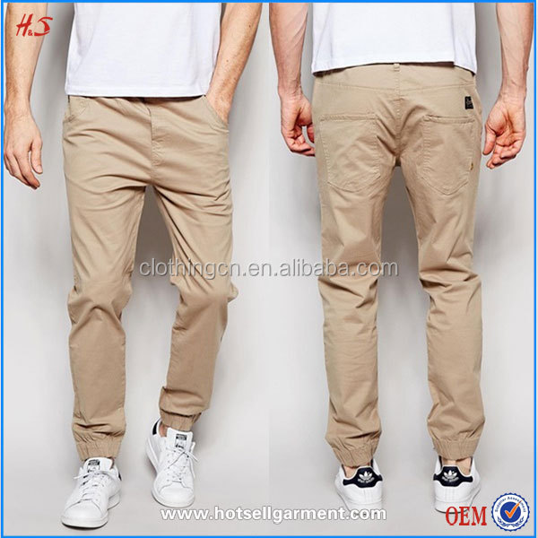 Available free sample wholesale blank jogger mens pants fashion slim fit custom design your own joggers