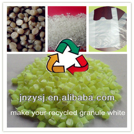 PE extrusion/Injection turning grey recycled plastic granule into white and shining/brightening luminous plastic resin