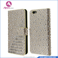 Glitter Diamond Leather Flip Cover Case for Samsung Galaxy J5
