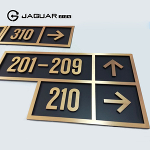 Factory direct supply cheap price custom brass hotel room door number signs