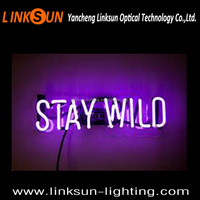 STAY WILD neon light letters