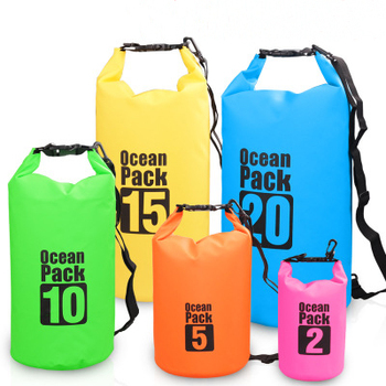 Fashion 15L fishing boating shoulder handbag single strap PVC waterproof dry bag backpack