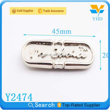 fashion famous brand names metal luggage tag logos for bag making accessories