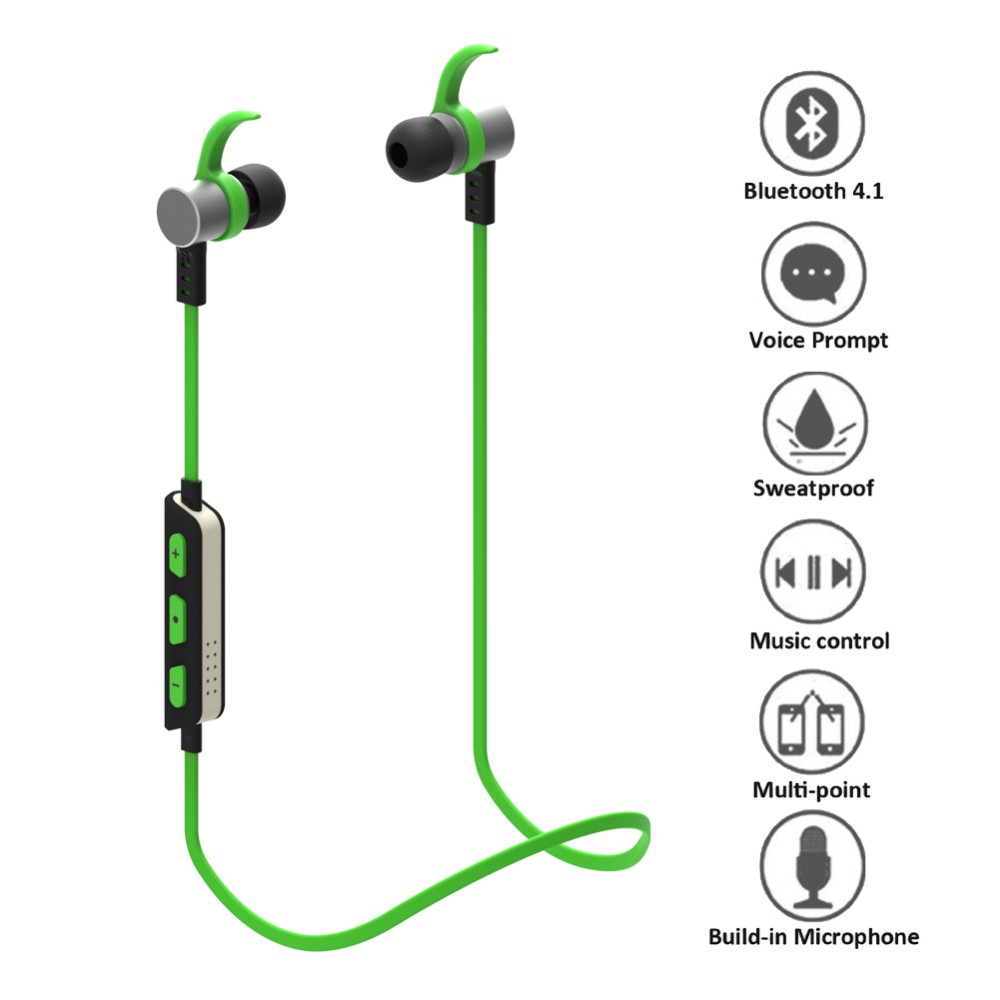 New Style Wireless Earphones 2017 Stereo Bluetooth, Earbud Bluetooth Wireless Stereo Earphone Bass Headset with Mic