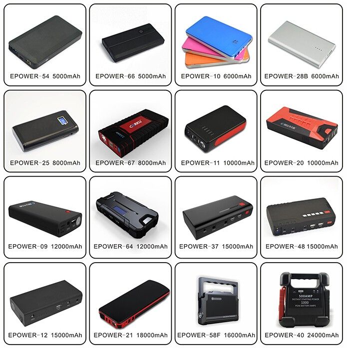 @LCD Display...2016 NEW.... 1st Brand Carku Epower-64 12000mah Jump Starter Epower-21 18000mah Portable jump starter