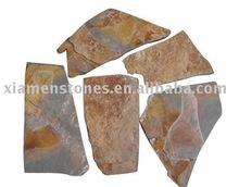 golden color quartzite&slate crazy cut tile
