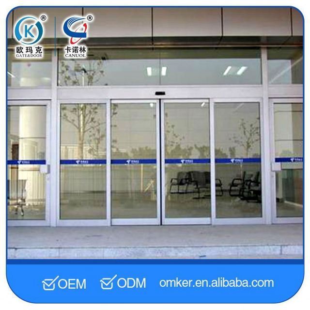 Microcomputer Control System Automatic Curved Sliding Door Low Price