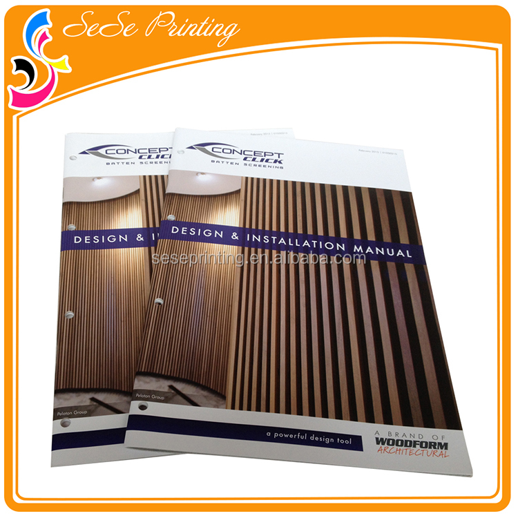 ISO9001 Certificate Professional Saddle Stitching Bound Wooden Doors Design Catalogue