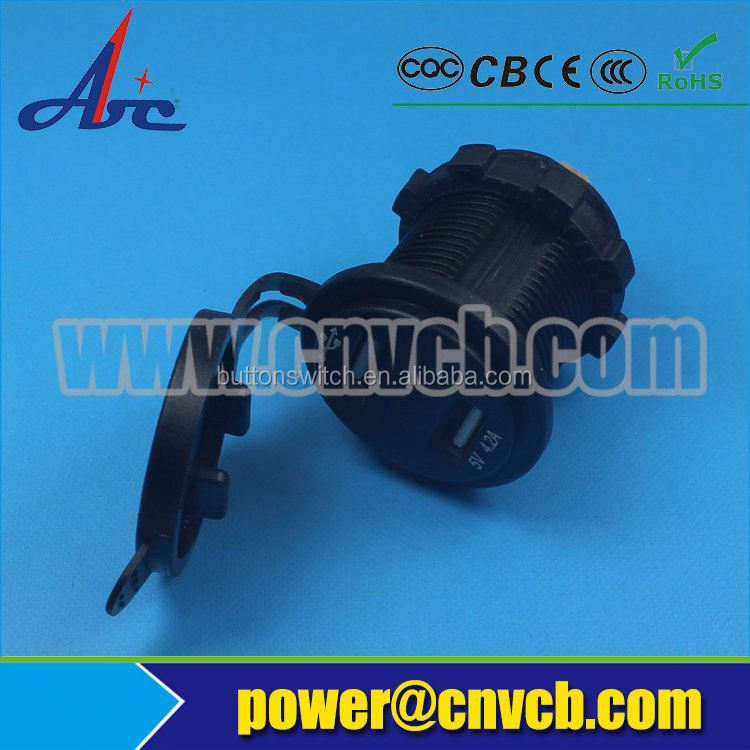 Hot sell ! Waterproof USB Charger Adapter Socket 12V-24V Outlet Power Jack Marine Motorcycles