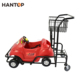double layers baskets kids shopping trolley cart for mall renting HAN-K06 3690