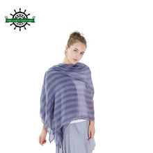 Wholesale New cotton and linen Vertical Striped Beach Towels Warm Shawl