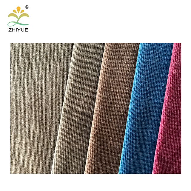 Home textile polyester plain velvet fabric material made in china
