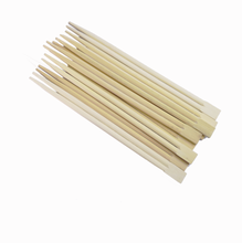 Customized Packing Disposable Tensoge Bamboo Chopstick into half paper wrapping