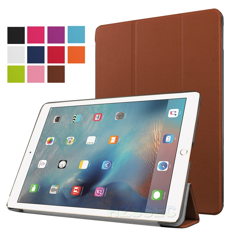 China Factory OEM Logo three floding stand PU leather case cover for Apple iPad pro 9.7