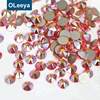 Low Price Wholesale Flat Back Strass 16 Cut Factes Orange AB Color Non Hot Fix Crystal Rhinestone For Bra