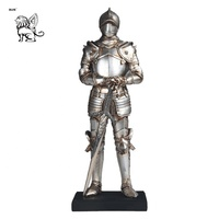 life size medieval knight statues casting antique metal bronze knight with sword statue BRL-288