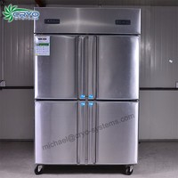 850L stainless steel deep freezer,stainless steel commercial refrigerator freezer