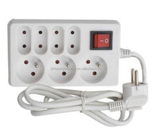 French type electric extension socket with switch