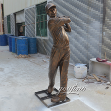 Metal Crafts Modern Cast Bronze Golf Statue