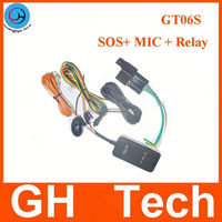 Globle solar powered gps tracker GT06S For car with Voice monitor google maps link