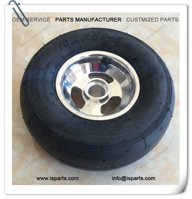 "10x3.6-5 Wheel Tire For Go Kart With 5"" Rim"