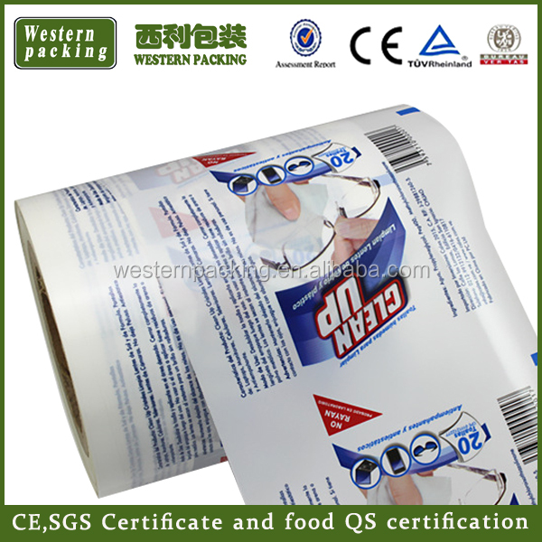 Heat seal automatic plastic packaging sachet film / Plastic Food Packaging film