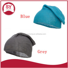 Classy solid color slouchy beanie hat for women with great fashion sense