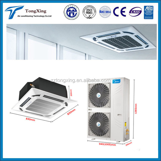 VRF system four way cassette split unit air conditioner