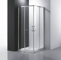 corner entry sliding shower cubicle
