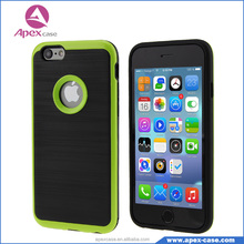 Hybrid Dual Layers TPU / PC Wire Drawing Armor Slim Case For iPhone 6/6S