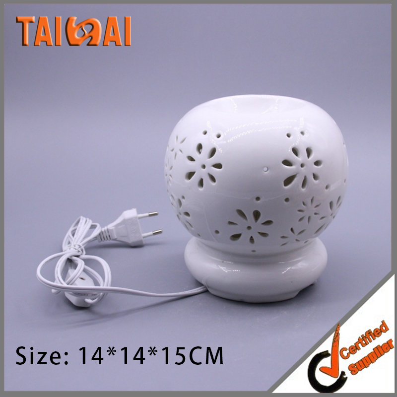 Tear Drop Vase Shape Ceramic Tea Light Holder, Aromatherapy Essential Oil Burner, Wax Melt Warmer